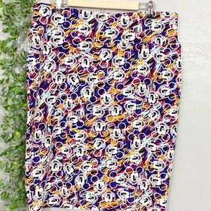 Lularoe Cassie pencil skirt in Mickey Mouse print
